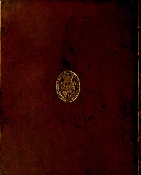 Constantinople Ancient and Modern - Back Cover (1797)