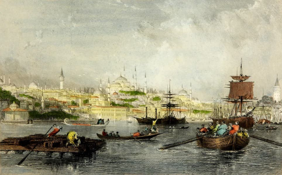 Constantinople and the Scenery of the Seven Churches of Asia Minor Vol. 1 - Constantinople from the Golden Horn (1839)