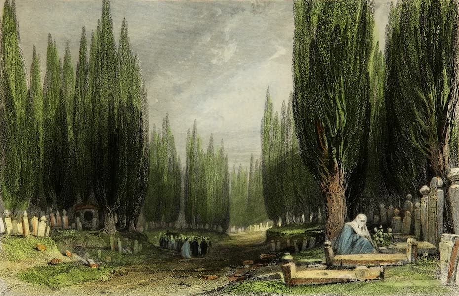 Constantinople and the Scenery of the Seven Churches of Asia Minor Vol. 1 - The Great Cemetery of Scutari (1839)