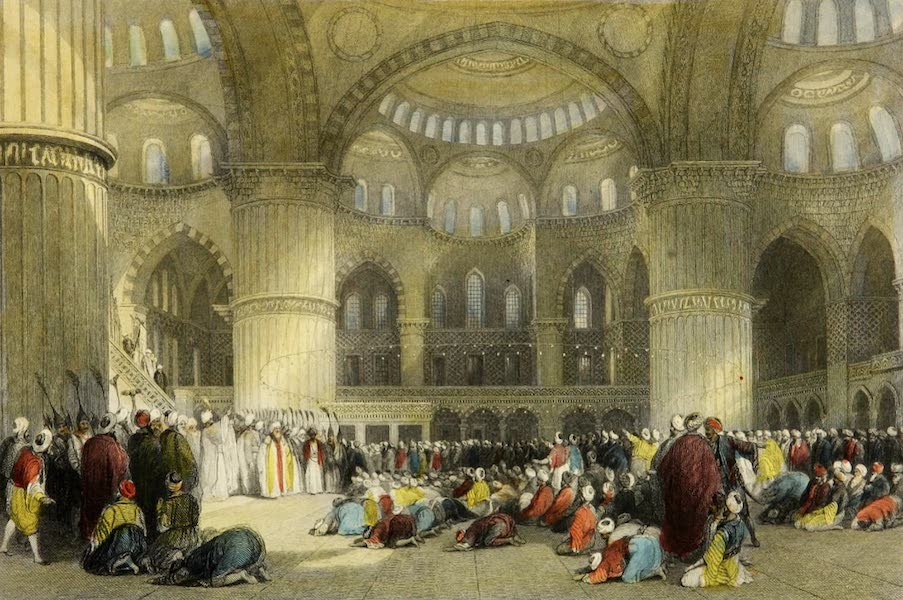 Constantinople and the Scenery of the Seven Churches of Asia Minor Vol. 1 - Mosque of Sultan Achmet (1839)
