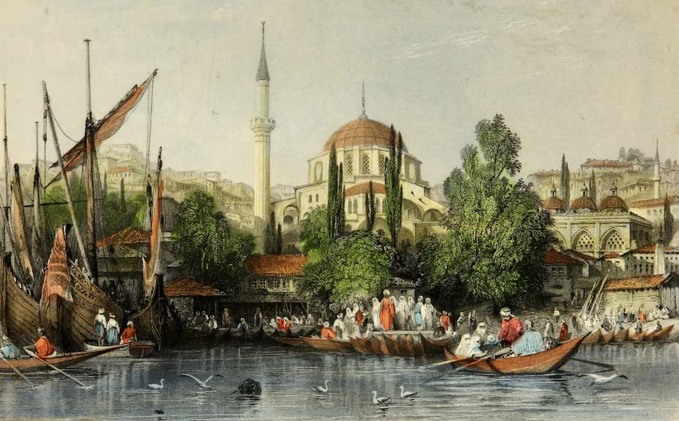 Constantinople and the Scenery of the Seven Churches of Asia Minor Vol. 1 - Tophana, Entrance to Pera (1839)