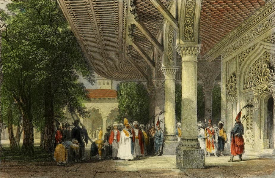 Constantinople and the Scenery of the Seven Churches of Asia Minor Vol. 1 - Reception-Room of the Seraglio (1839)