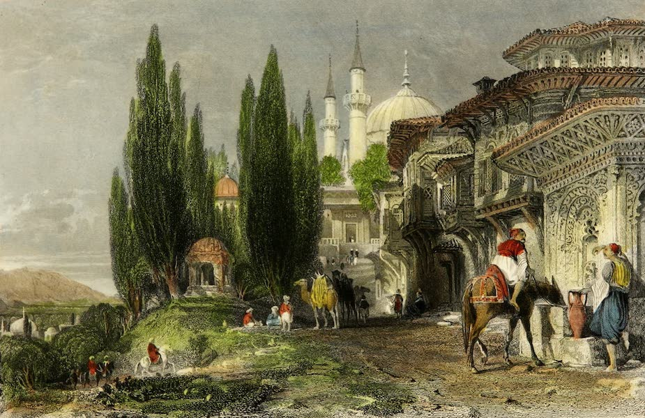 Constantinople and the Scenery of the Seven Churches of Asia Minor Vol. 1 - Emir Sultan, Brusa (1839)