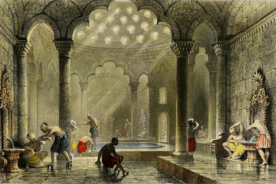 Constantinople and the Scenery of the Seven Churches of Asia Minor Vol. 1 - The Bath (1839)