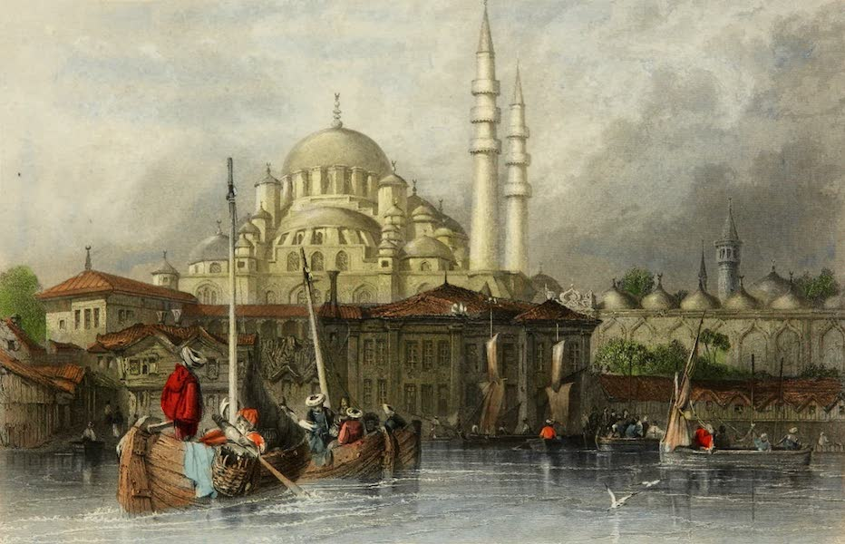 Constantinople and the Scenery of the Seven Churches of Asia Minor Vol. 1 - The Mosque of Yeni Jami (1839)