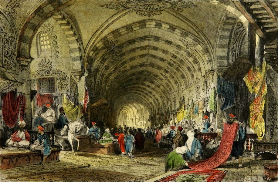 Constantinople and the Scenery of the Seven Churches of Asia Minor Vol. 1 - The Great Bazaar (1839)