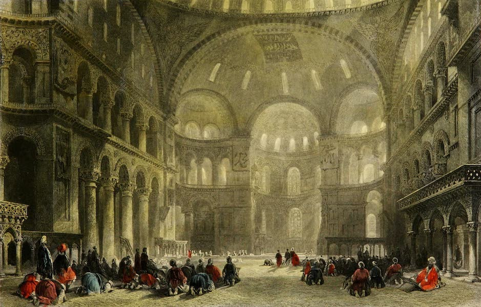 Constantinople and the Scenery of the Seven Churches of Asia Minor Vol. 1 - The Mosque of Santa Sophia (1839)
