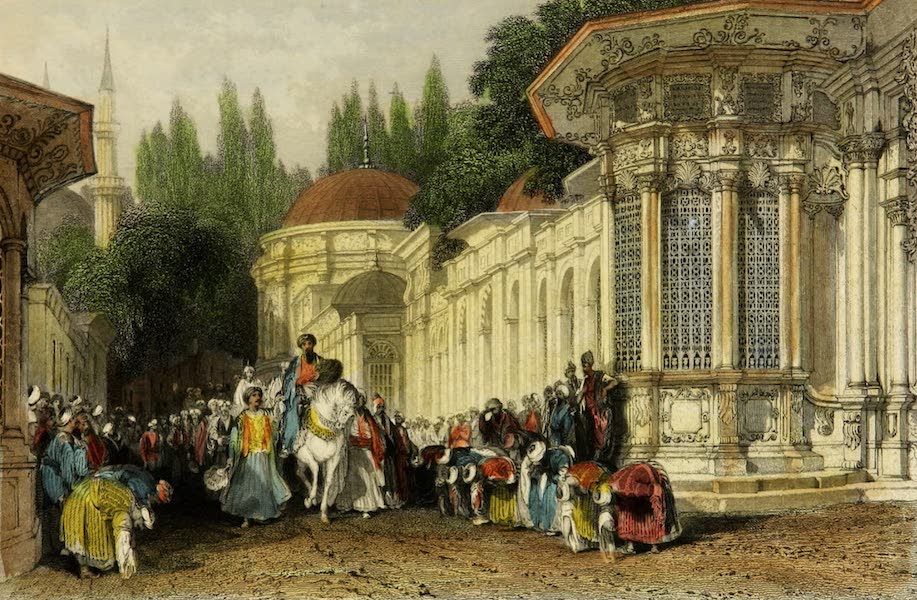 Constantinople and the Scenery of the Seven Churches of Asia Minor Vol. 1 - Eyoub Sultan – Fountain and Street of Tombs (1839)