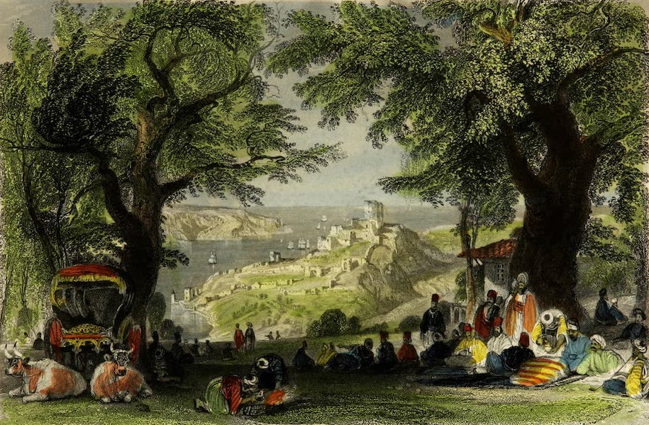Constantinople and the Scenery of the Seven Churches of Asia Minor Vol. 1 - Entrance to the Bosphorus from the Black Sea (1839)