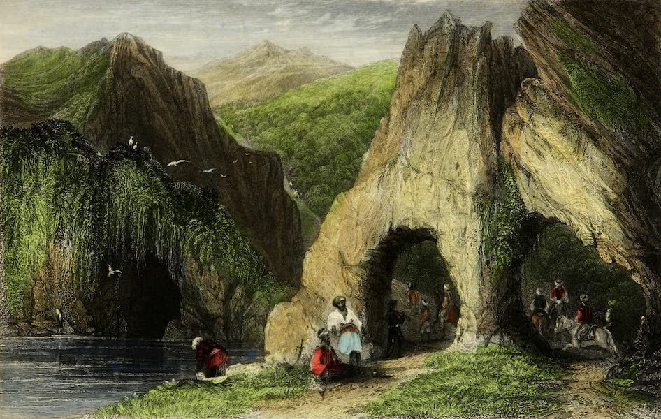 Constantinople and the Scenery of the Seven Churches of Asia Minor Vol. 1 - Ancient Archway and Cavern in the Balkan Mountains (1839)