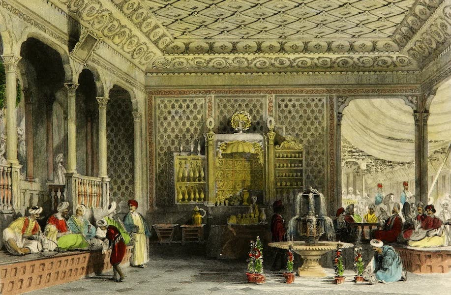 Constantinople and the Scenery of the Seven Churches of Asia Minor Vol. 1 - Interior of a Turkish Caffinet (1839)