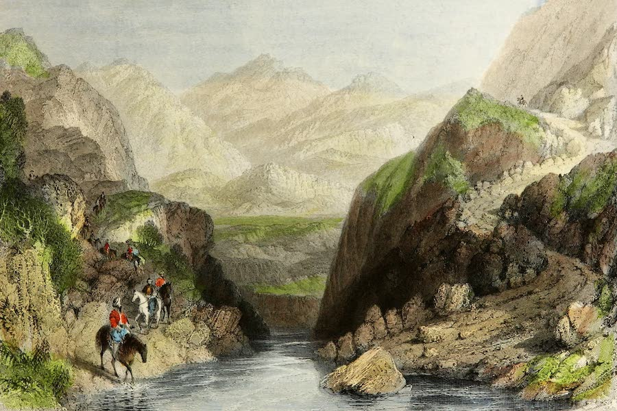 Constantinople and the Scenery of the Seven Churches of Asia Minor Vol. 1 - Pass in the Balkan Mountains-Bulgarian Side (1839)