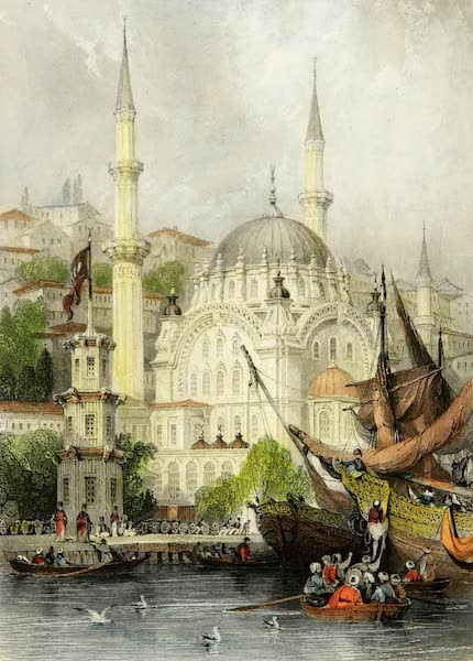 Constantinople and the Scenery of the Seven Churches of Asia Minor Vol. 1 - Mosque of Mahmoud II. at Tophana (1839)