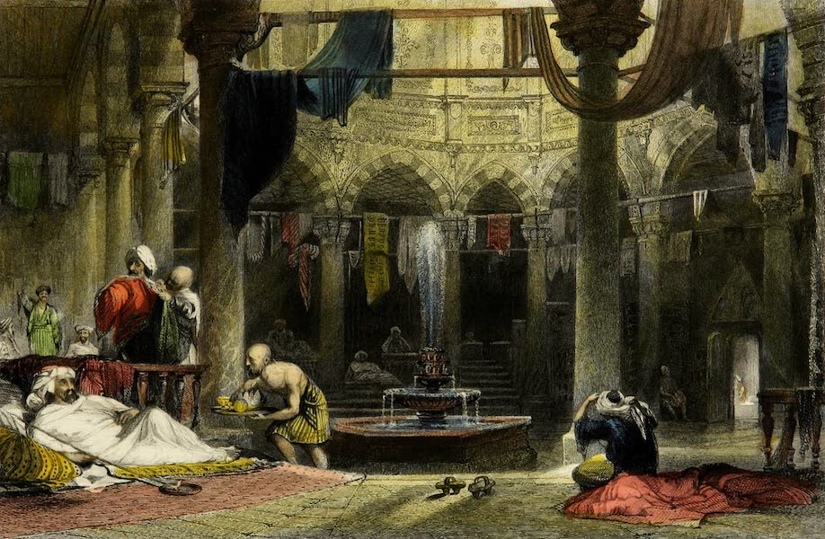 Constantinople and the Scenery of the Seven Churches of Asia Minor Vol. 1 - Outer Cooling-Room of the Bath near Psamatia Kapousi (1839)