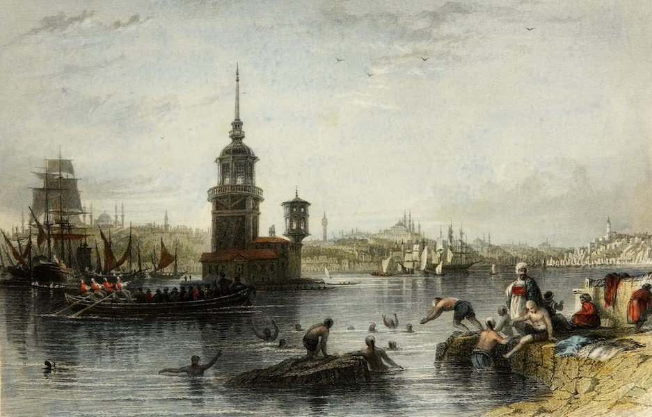 Constantinople and the Scenery of the Seven Churches of Asia Minor Vol. 1 - Kiz-Koulesi-Leander's, or the Maiden's Tower (1839)
