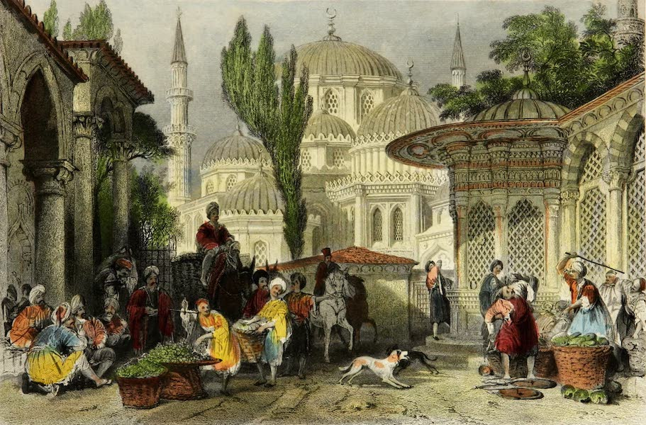 Constantinople and the Scenery of the Seven Churches of Asia Minor Vol. 1 - Mosque of Shahzadeh Djamesi (1839)