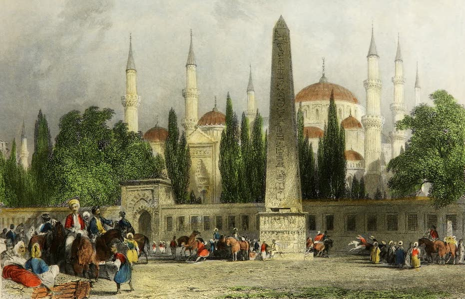 Constantinople and the Scenery of the Seven Churches of Asia Minor Vol. 2 - Obelisk of Theodosius, in the Atmeidan (1839)