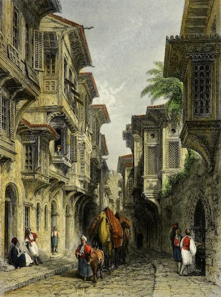 Constantinople and the Scenery of the Seven Churches of Asia Minor Vol. 2 - A Street in Smyrna (1839)