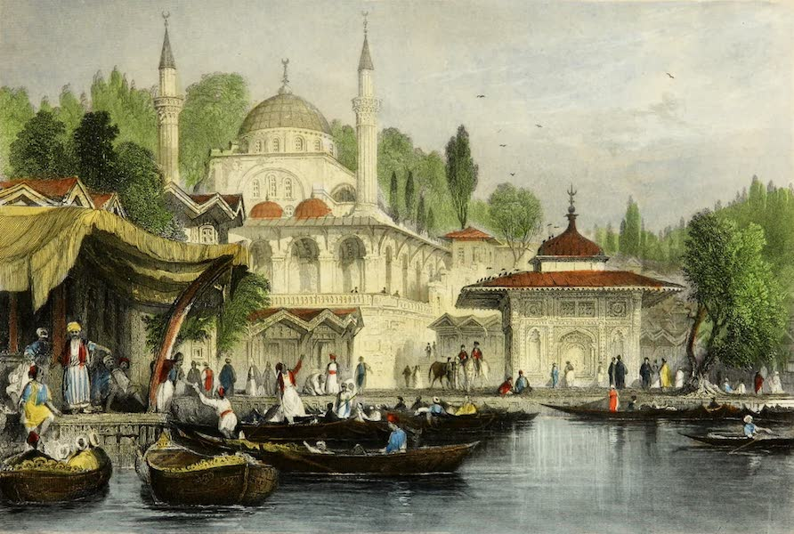 Constantinople and the Scenery of the Seven Churches of Asia Minor Vol. 2 - Mosque of Buyuk Djami, Scutari (1839)