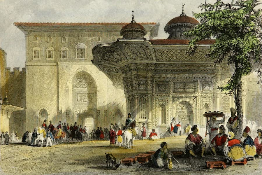 Constantinople and the Scenery of the Seven Churches of Asia Minor Vol. 2 - Fountain near Babu Humayun (1839)