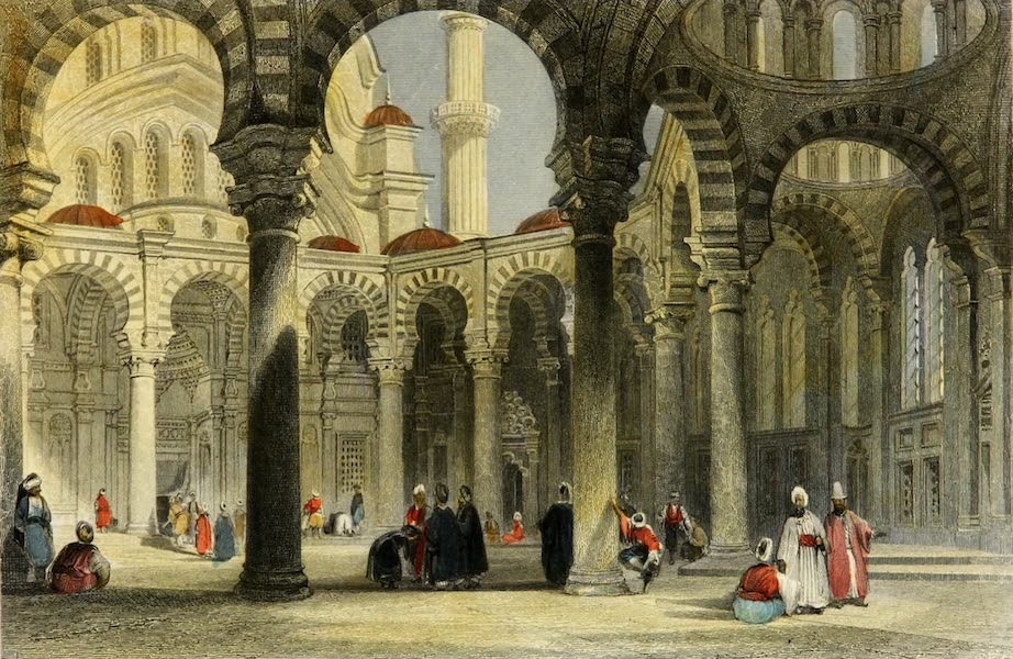 Constantinople and the Scenery of the Seven Churches of Asia Minor Vol. 2 - Inner Court of the Mosque of Sultan Osman (1839)