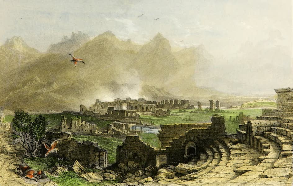 Constantinople and the Scenery of the Seven Churches of Asia Minor Vol. 2 - The Ruins of Hieropolis, from the Theatre (1839)