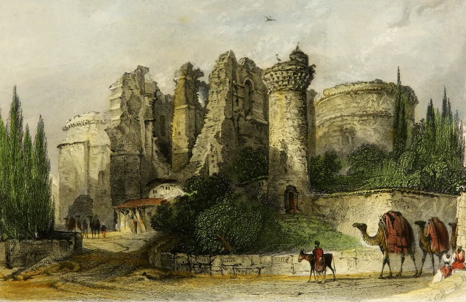 Constantinople and the Scenery of the Seven Churches of Asia Minor Vol. 2 - Remains of the Church of St. John - Pergamus (1839)