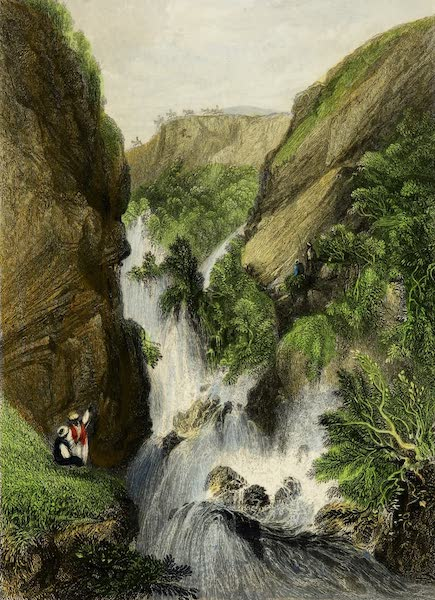 Constantinople and the Scenery of the Seven Churches of Asia Minor Vol. 2 - Pass and Waterfall in the Balkan Mountains (1839)