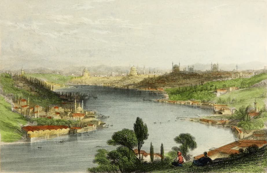 Constantinople and the Scenery of the Seven Churches of Asia Minor Vol. 2 - Constantinople from the Heights above Eyoub (1839)