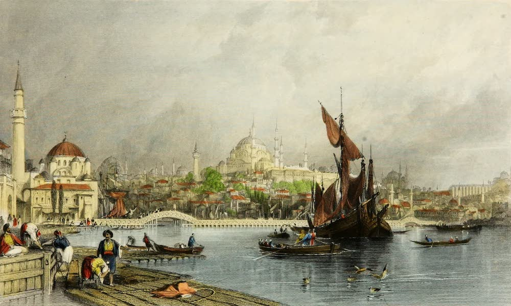 Constantinople and the Scenery of the Seven Churches of Asia Minor Vol. 2 - Constantinople, from Cassim Pasha (1839)