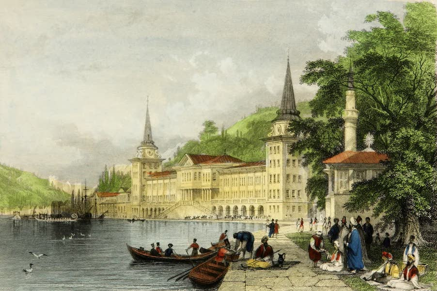 Constantinople and the Scenery of the Seven Churches of Asia Minor Vol. 2 - Cavalry Barracks on the Bosphorus (1839)