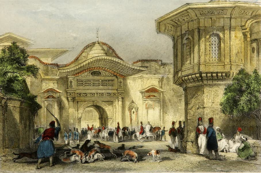 Constantinople and the Scenery of the Seven Churches of Asia Minor Vol. 2 - Entrance to the Divan, Constantinople (1839)