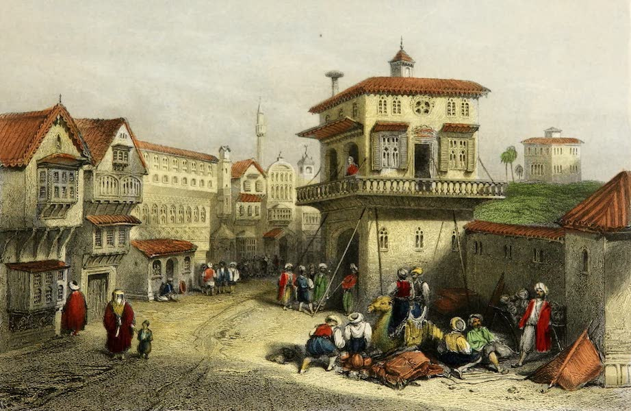 Constantinople and the Scenery of the Seven Churches of Asia Minor Vol. 2 - A Street in the Suburbs of Adrianople (1839)
