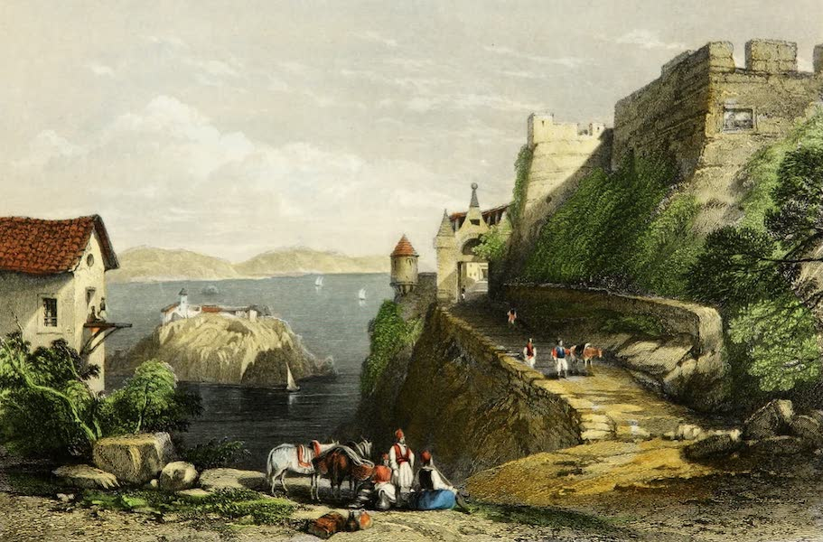 Constantinople and the Scenery of the Seven Churches of Asia Minor Vol. 2 - Castle of Parga, Albania (1839)