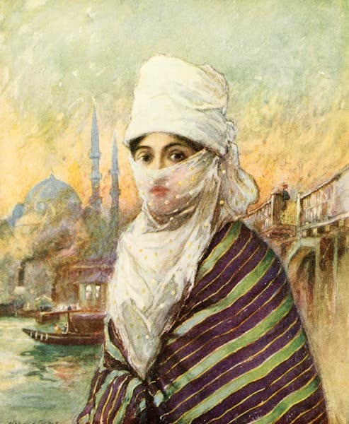 Constantinople Painted and Described - A Turkish Lady in Out-Door Dress (1906)