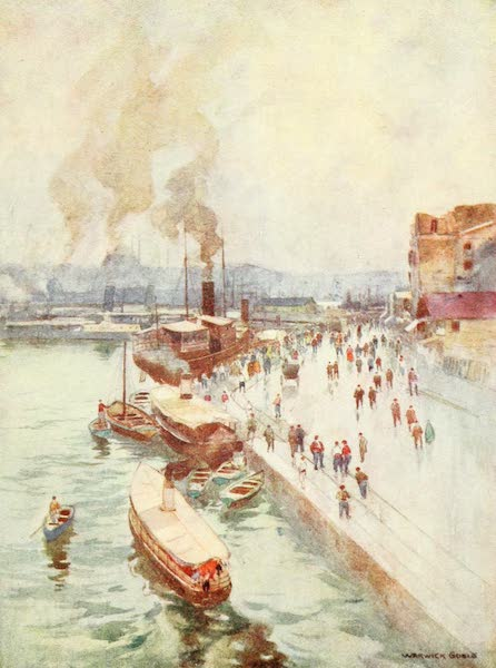 Constantinople Painted and Described - The Quay in Galata (1906)