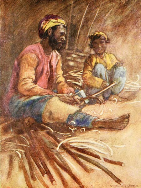 Constantinople Painted and Described - Gypsy Basket-Maker (1906)
