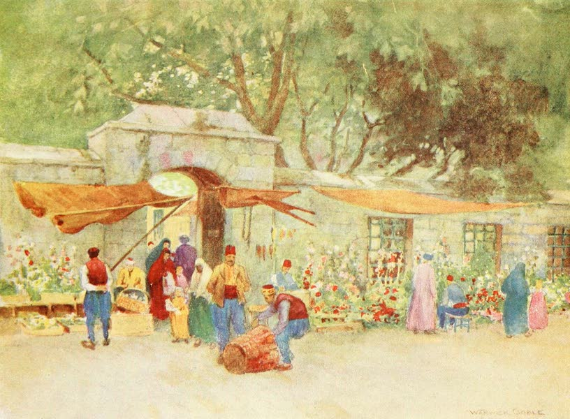 Constantinople Painted and Described - A Flower-Market, Scutari (1906)