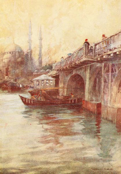 Constantinople Painted and Described - The Galata Bridge (1906)