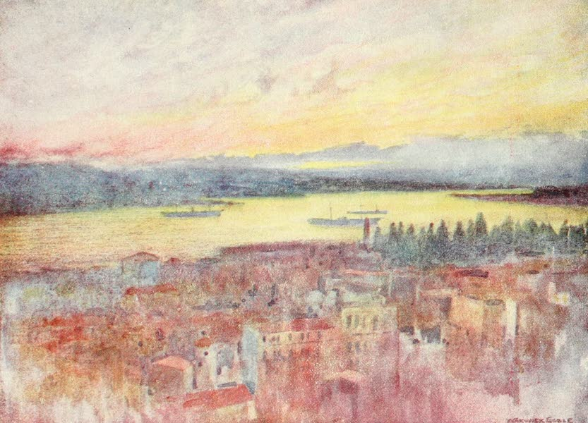 Constantinople Painted and Described - Golden Horn from the British Hospital, Galata (1906)