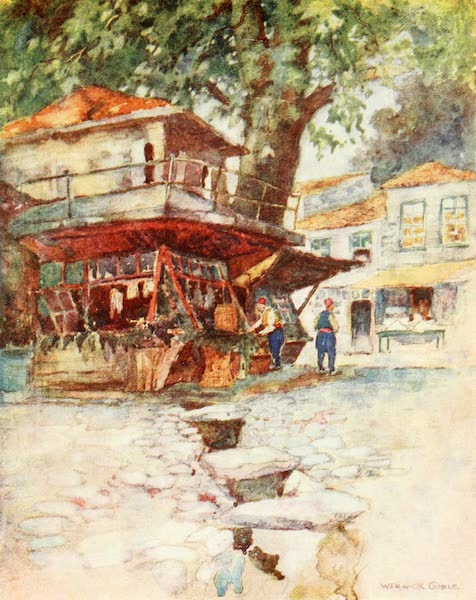 Constantinople Painted and Described - A Village Store at Kavak (1906)