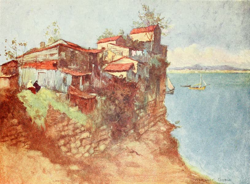 Constantinople Painted and Described - Refugee Huts on the Marmora (1906)