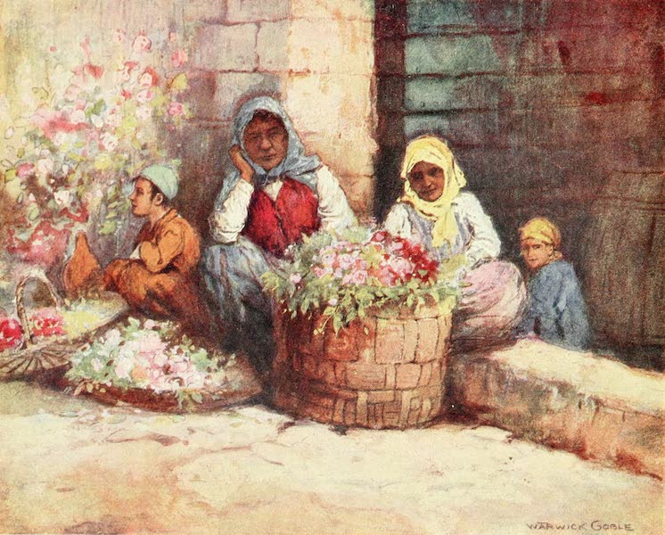Constantinople Painted and Described - Flower-Sellers (1906)