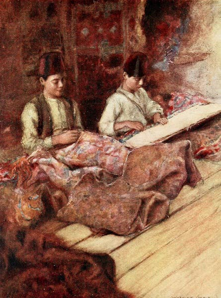 Constantinople Painted and Described - Carpet-Menders (1906)