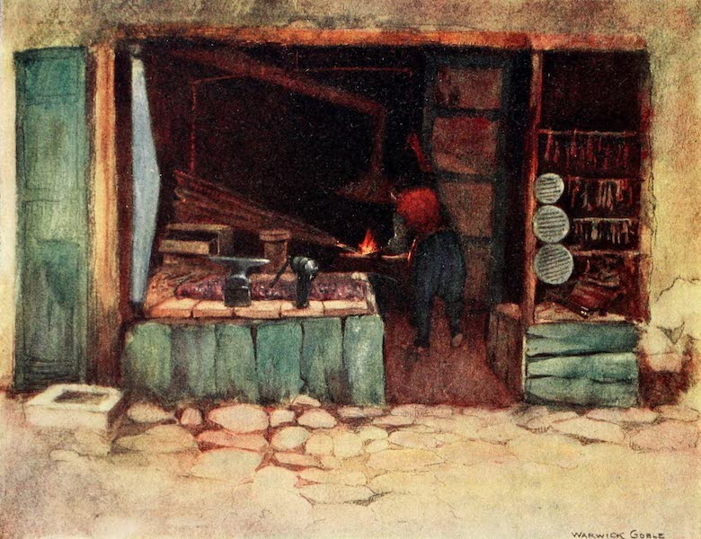 Constantinople Painted and Described - A Blacksmith's Shop (1906)