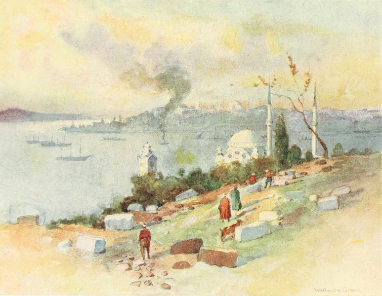 """Constantinople Painted and Described - Seraglio Point from """"The Stones"""" (1906)"""