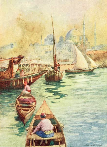 Constantinople Painted and Described - The Bridge from Galata (1906)