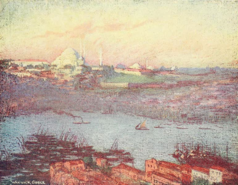 Constantinople Painted and Described - Suleimaniyeh at Sunrise (1906)