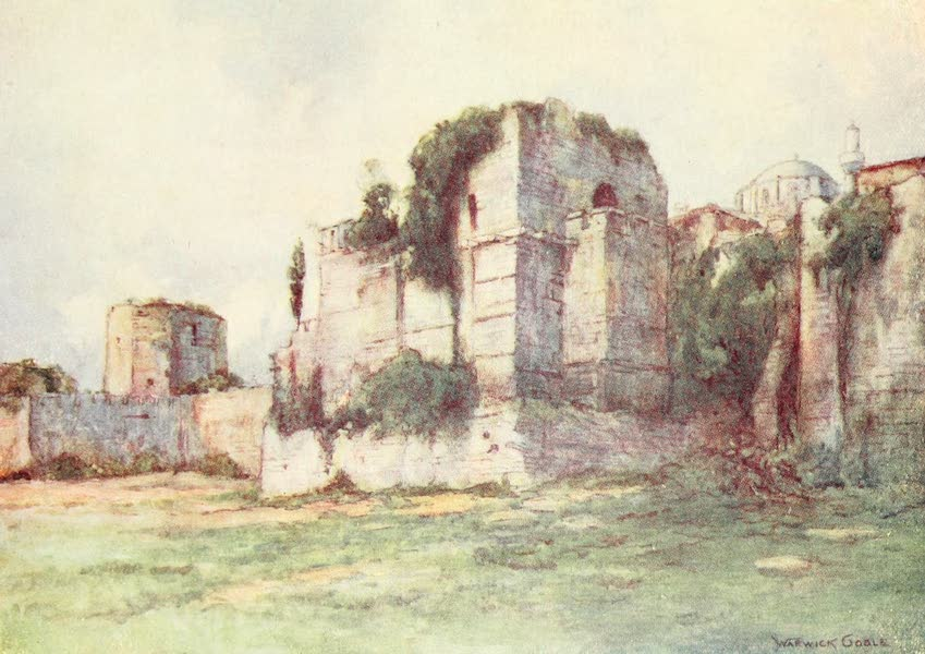 Constantinople Painted and Described - The Walls; the Tower of Isaac Angelus (1906)