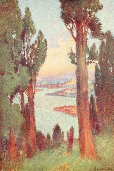 Constantinople Painted and Described - Constantinople and Golden Horn from the Cemetery at Eyoub (1906)